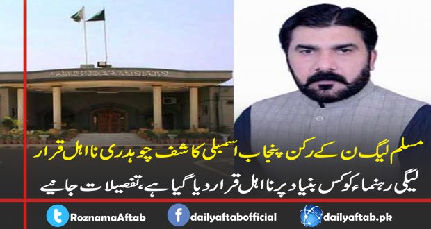 PMLN, Kashif Ch, IHC, Disqualification, Fake Degree