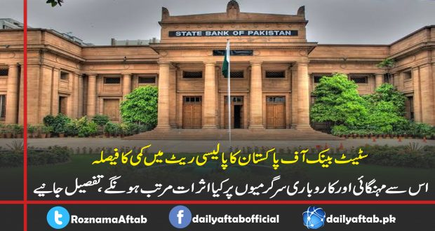 پالیسی ریٹ , سٹیٹ بینک آف پاکستان