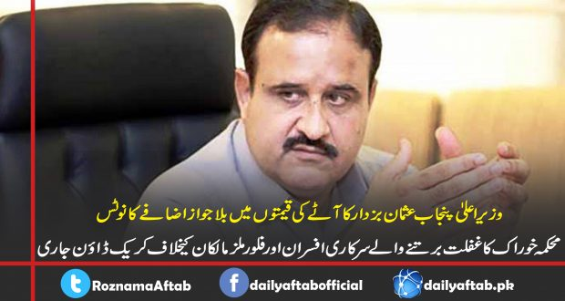 CM Punjab, Usman Buzdar, Floor Prices , Latest News, Pakistan News