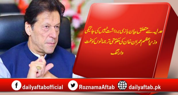 PM Imran Khan, Judiciary, Warning, Party Spokesperson, Respect