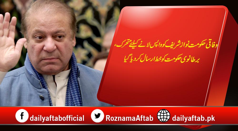 Federal Govt, Nawaz Sharif, British Govt, Letter, Treatment, Bail