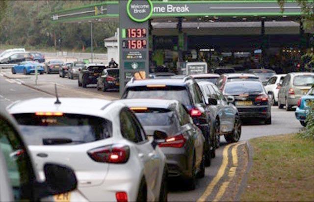 Petrol crisis in Britain